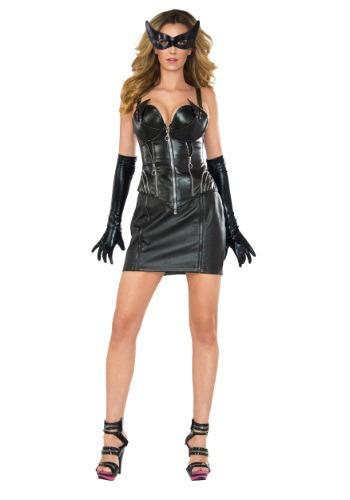 Image of Women's Deluxe Catwoman Corset Costume