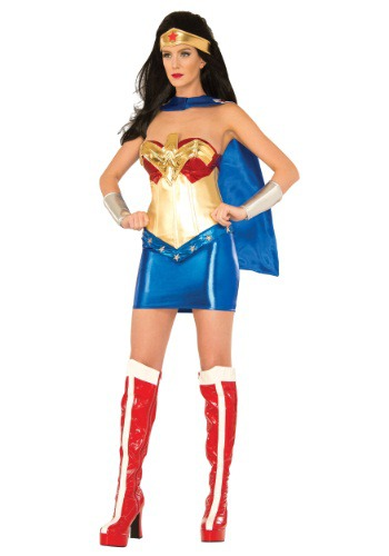 Women's Deluxe Wonder Woman Corset Outfit