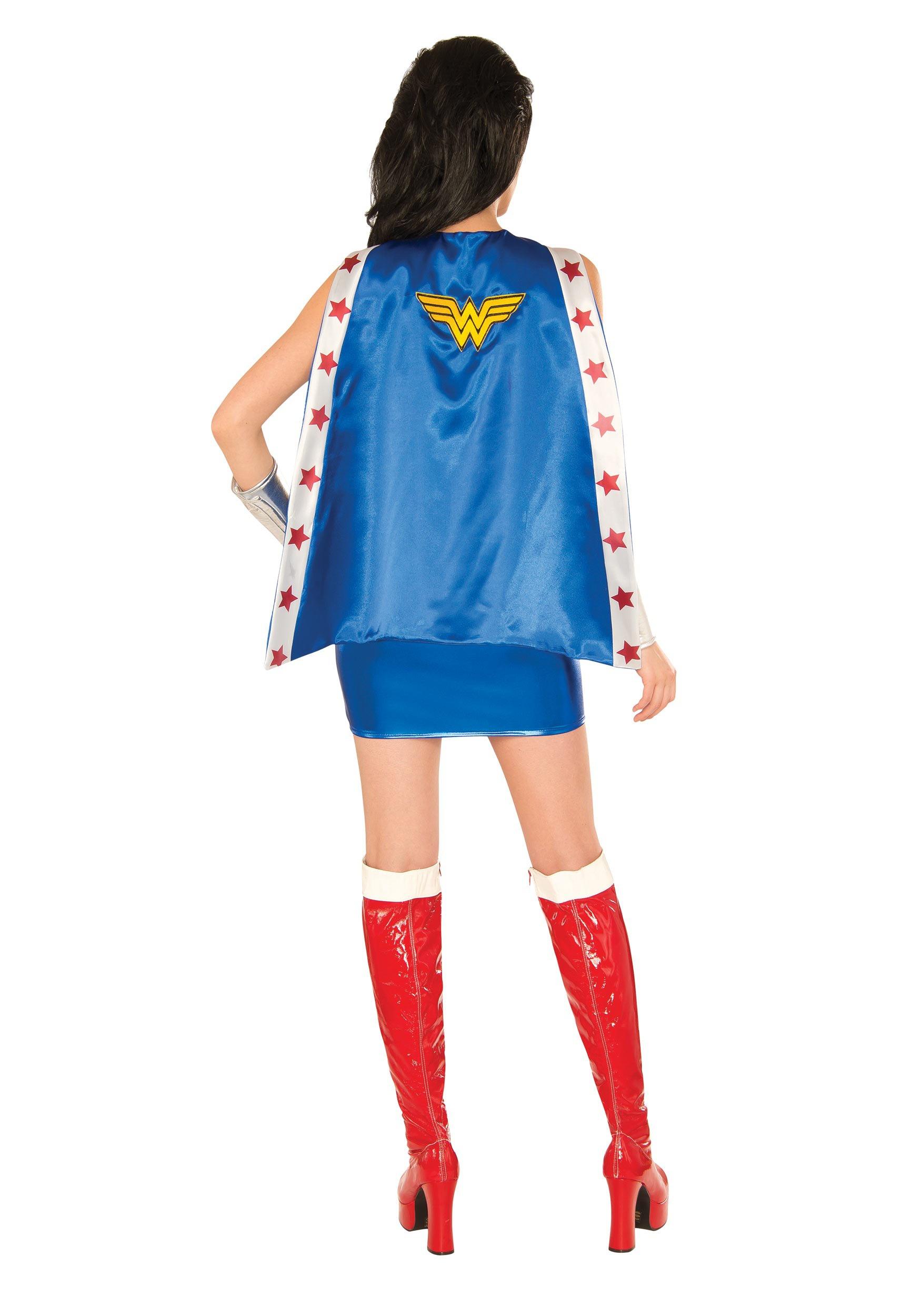 Womens Deluxe Wonder Woman Corset Costume-7684