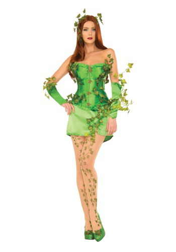 Women's Deluxe Poison Ivy Corset Costume (Womens Poisonous Costume)