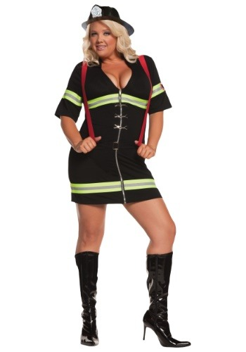Click Here to buy Plus Size Sexy Firegirl Costume 1X/2X 3X/4X 5X from HalloweenCostumes, CDN Funds