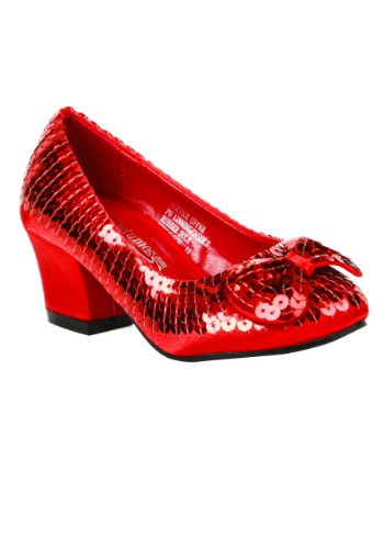 Click Here to buy Girls Red Sequin Heels from HalloweenCostumes, CDN Funds
