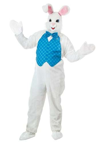 Costume | Mascot | Bunny | Happy | Adult | East
