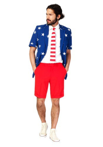 Mens OppoSuits Stars & Stripes Summer Suit Costume