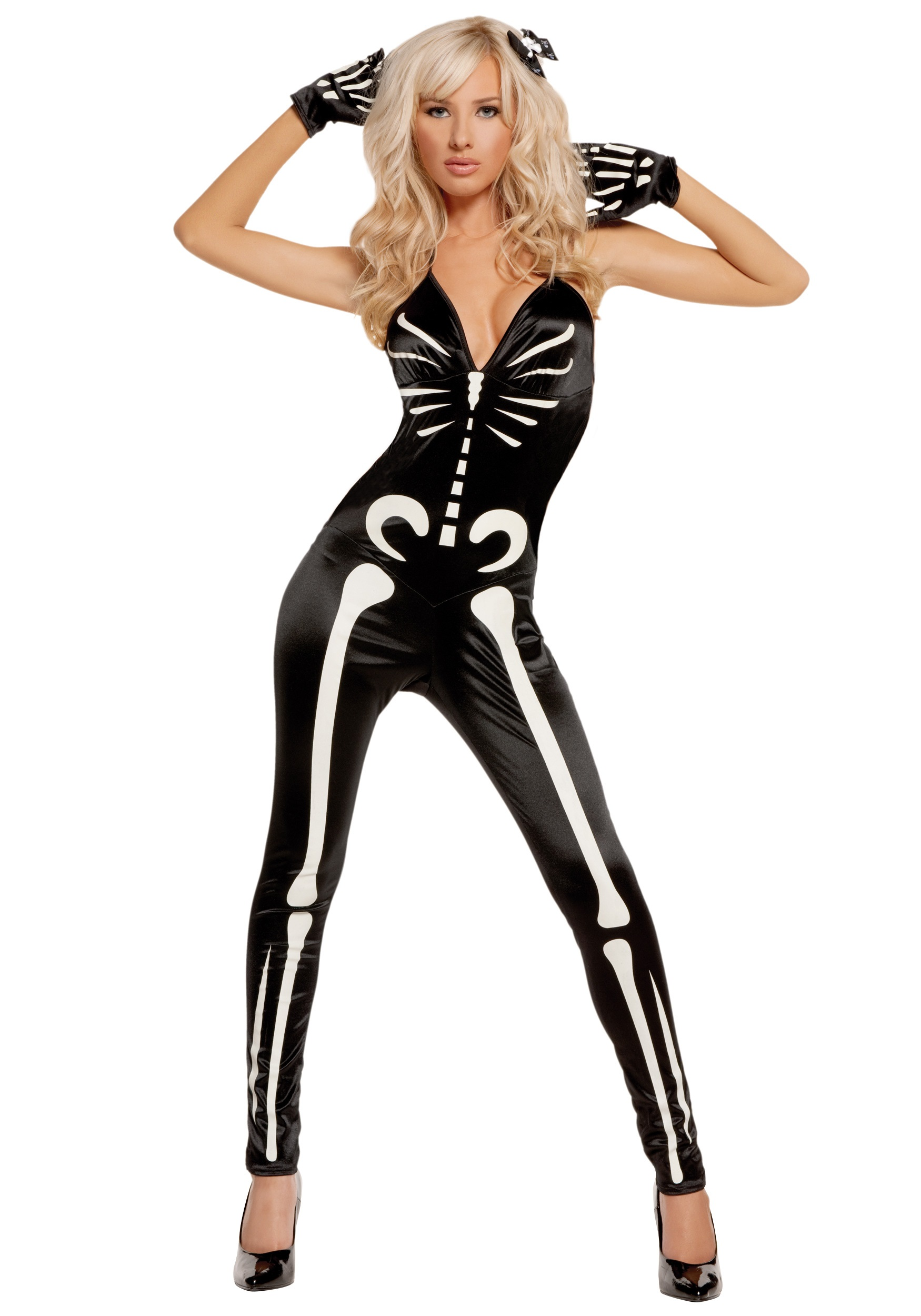 sc 1 st  Halloween Costumes & Sexy Glow Skeleton Costume