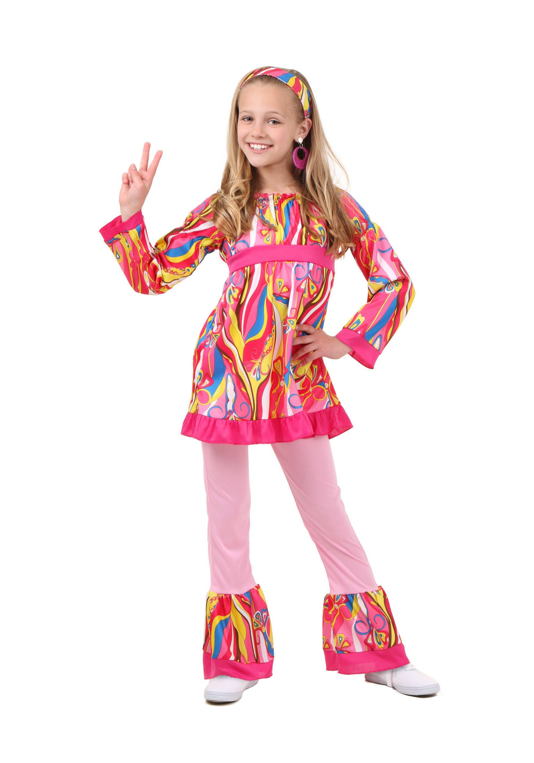 Child Disco Top and Bell Bottoms Costume  sc 1 st  Halloween Costumes & Kids Disco Costumes u0026 Outfits - HalloweenCostumes.com