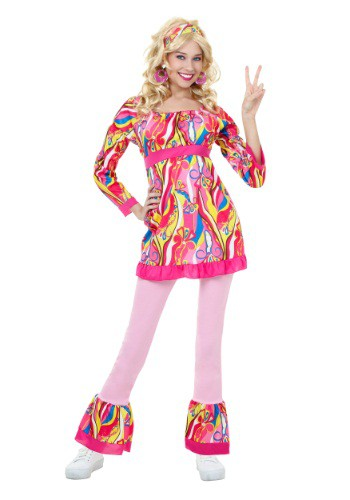 Image of Adult Disco Top and Bell Bottoms Costume