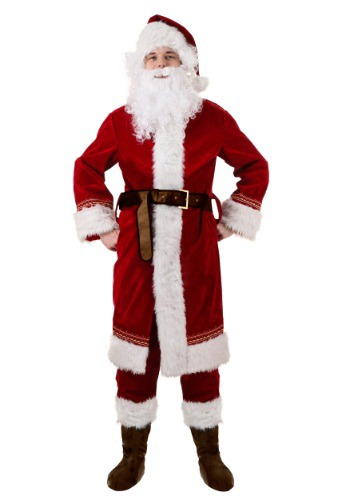Click Here to buy Plus Size Polar Express Santa Costume 2X from HalloweenCostumes, CDN Funds