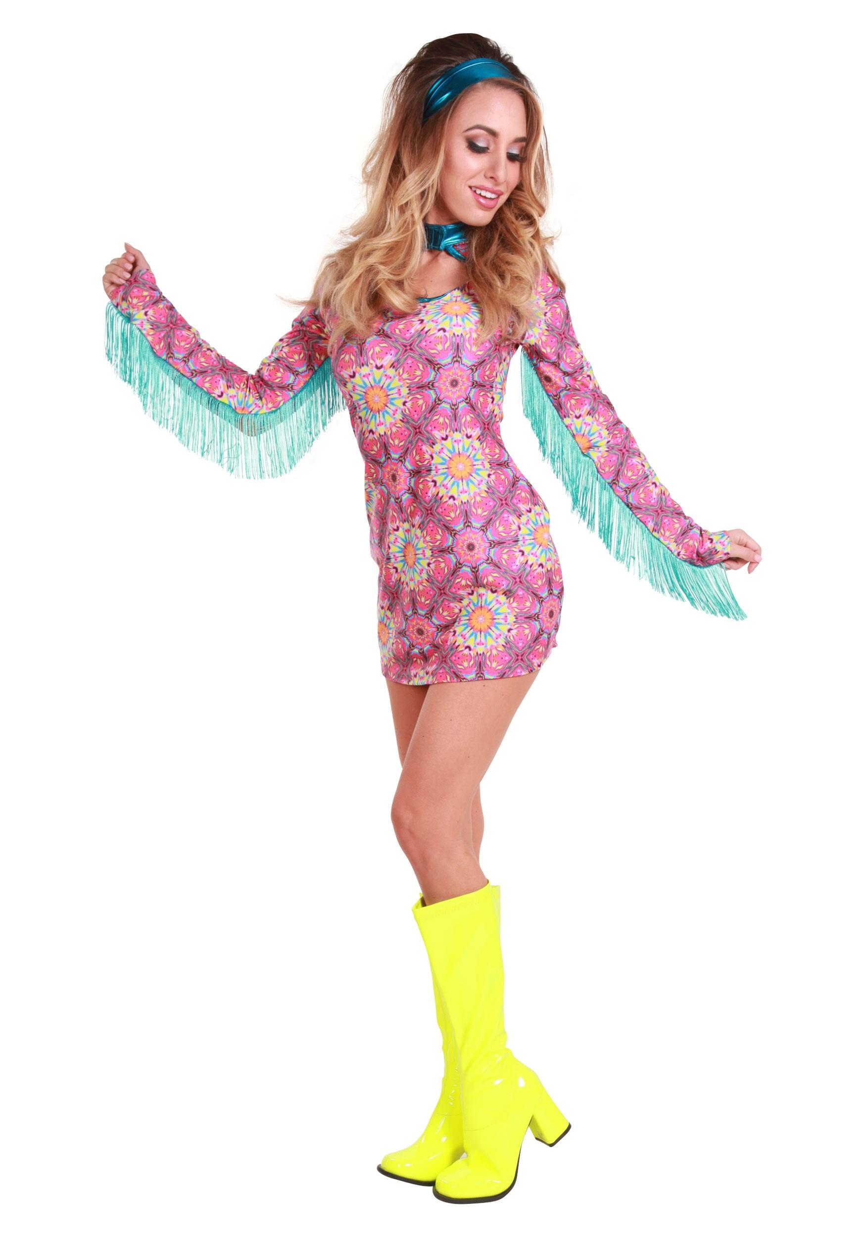 Brilliant Girls Retro Hippie Girl Fancy Dress Up Party Costume Halloween Child