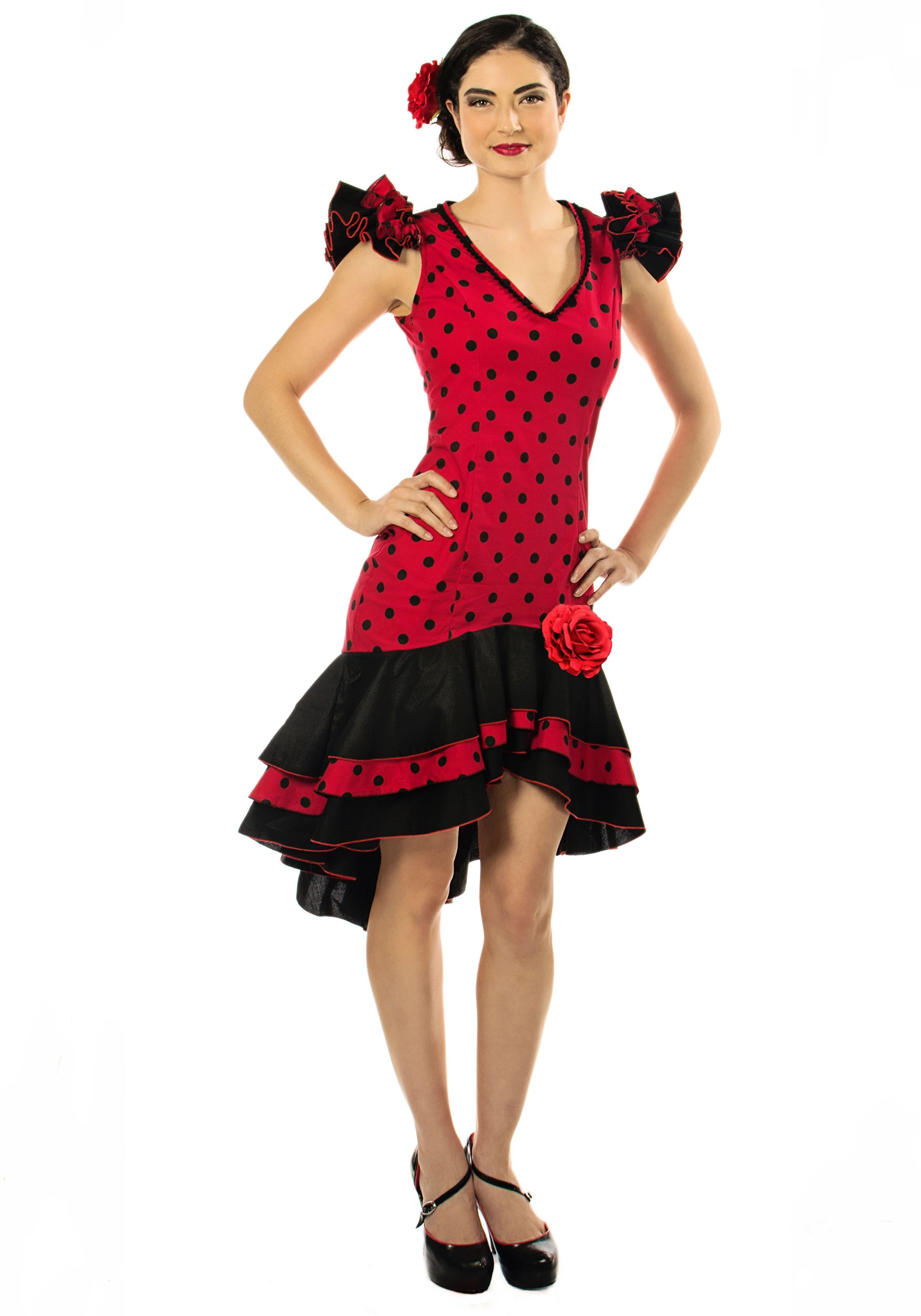 Cinco de mayo costumes fiesta outfits halloweencostumes womens plus size spanish dancer costume solutioingenieria Images