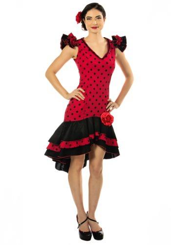 Womens Plus Size Spanish Dancer Costume