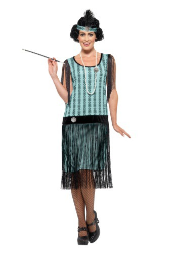 Womens 1920s Mint Coco Flapper Costume