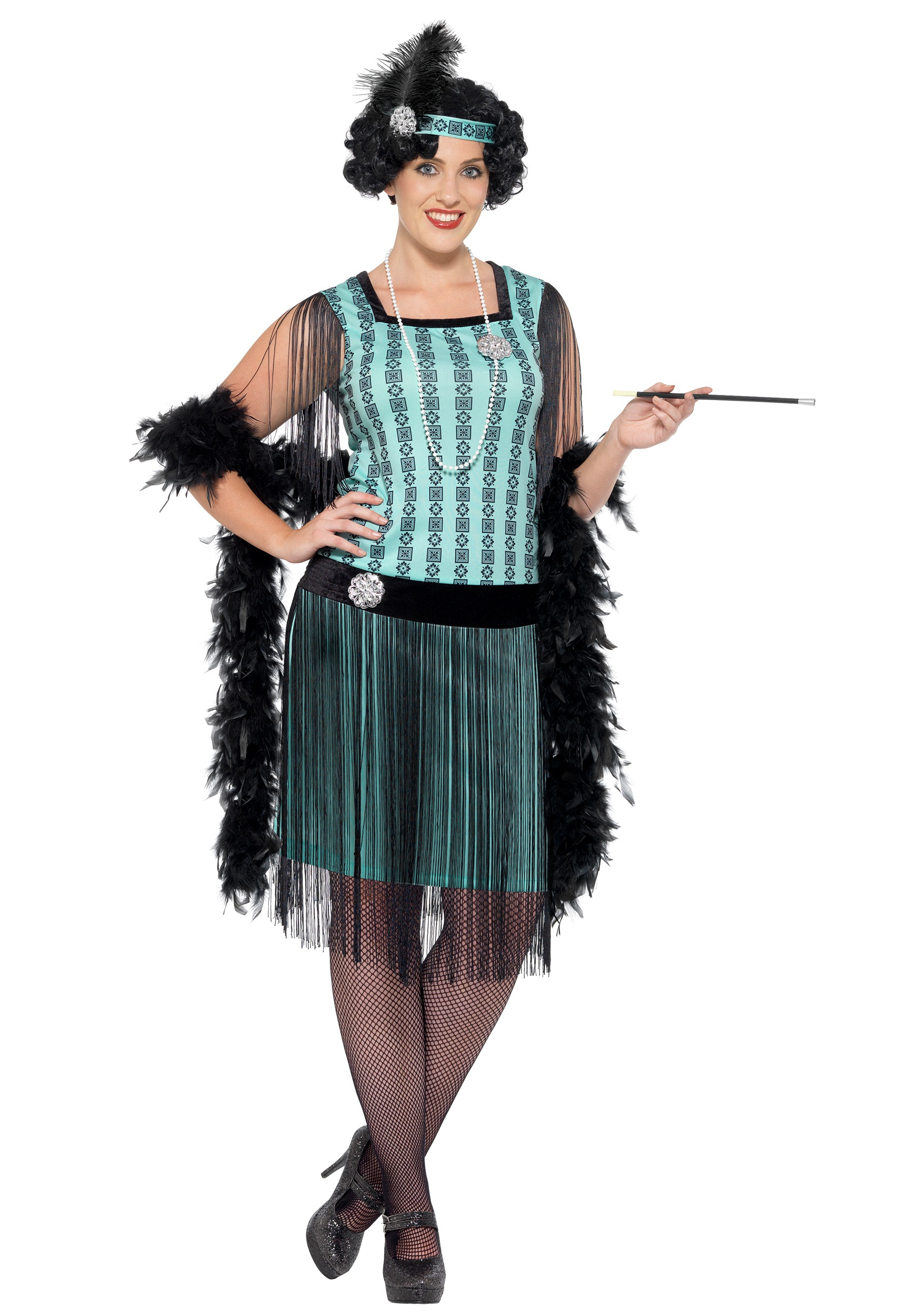 Womenu0027s Plus Size 1920s Mint Coco Flapper Costume  sc 1 st  Halloween Costumes & 1920u0027s Dresses u0026 Flapper Dress Costumes - Roaring 20u0027s Costumes