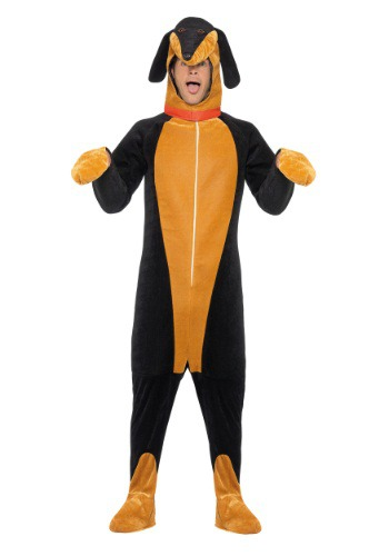 Click Here to buy Adult Dachshund Costume from HalloweenCostumes, USA Funds & Shipping