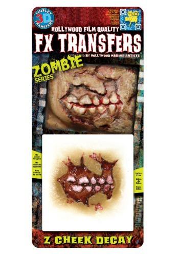 Zombie Cheek Decay Temporary 3d Tattoo Kit
