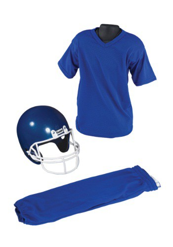 Child Deluxe Football Blue Uniform Set