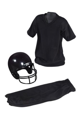 Child Deluxe Football Black Uniform Set Costume
