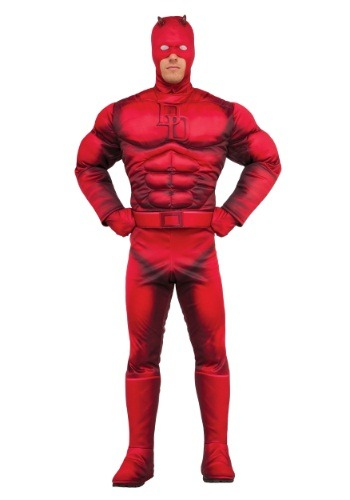 Click Here to buy Adult Deluxe Daredevil Costume from HalloweenCostumes, USA Funds & Shipping