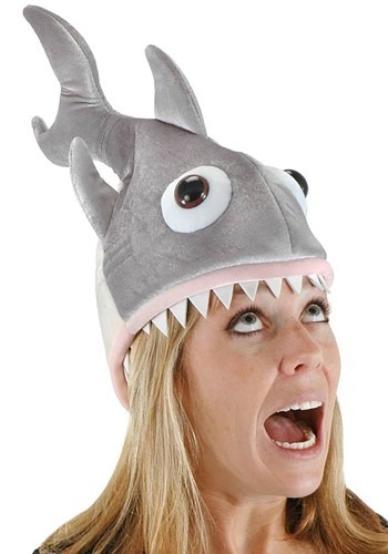 This humorous shark hat is