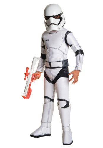 Click Here to buy Kids Super Deluxe Star Wars TFA Stormtrooper Costume from HalloweenCostumes, CDN Funds