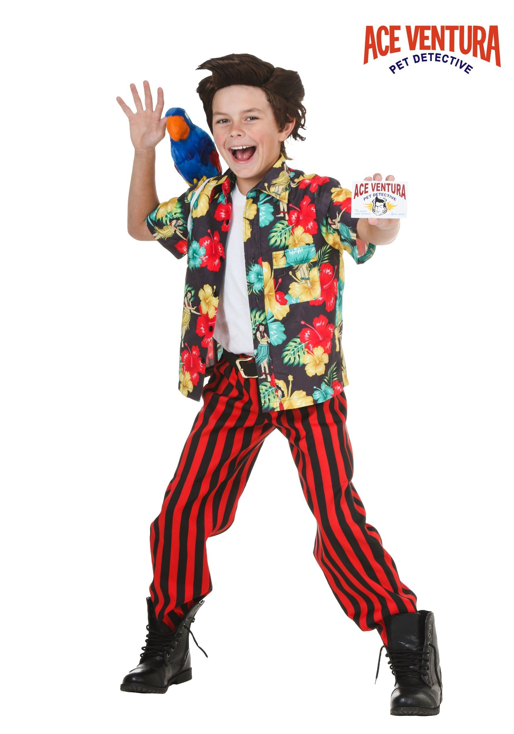 child ace ventura costume with wig - Ace Ventura Halloween Costumes