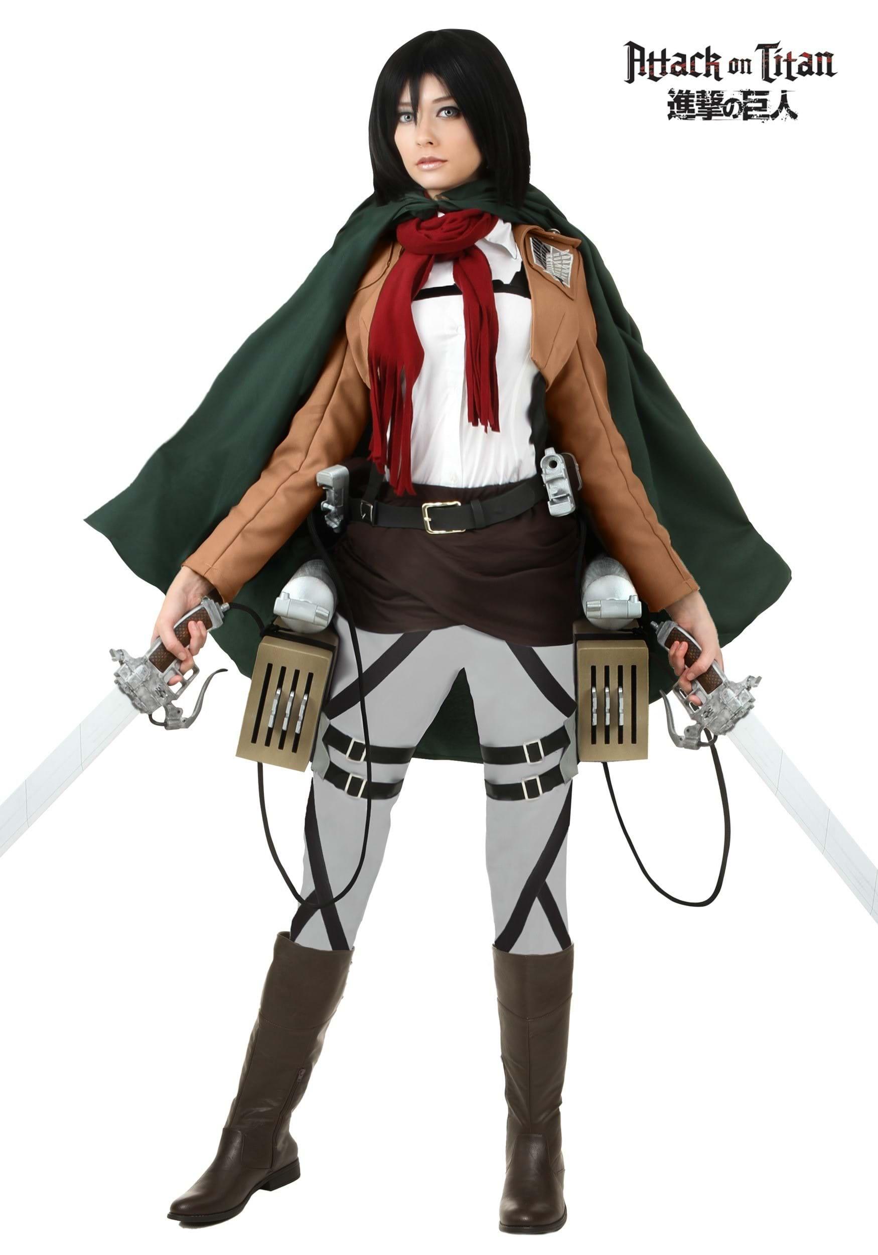 Deluxe Attack on Titan Mikasa Costume FUN2358AD