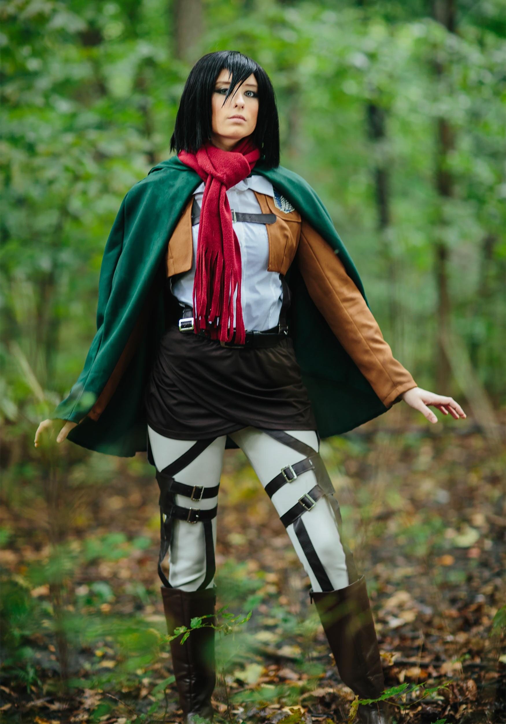 Deluxe Attack on Titan Mikasa Costume   Women's Cosplay Costume
