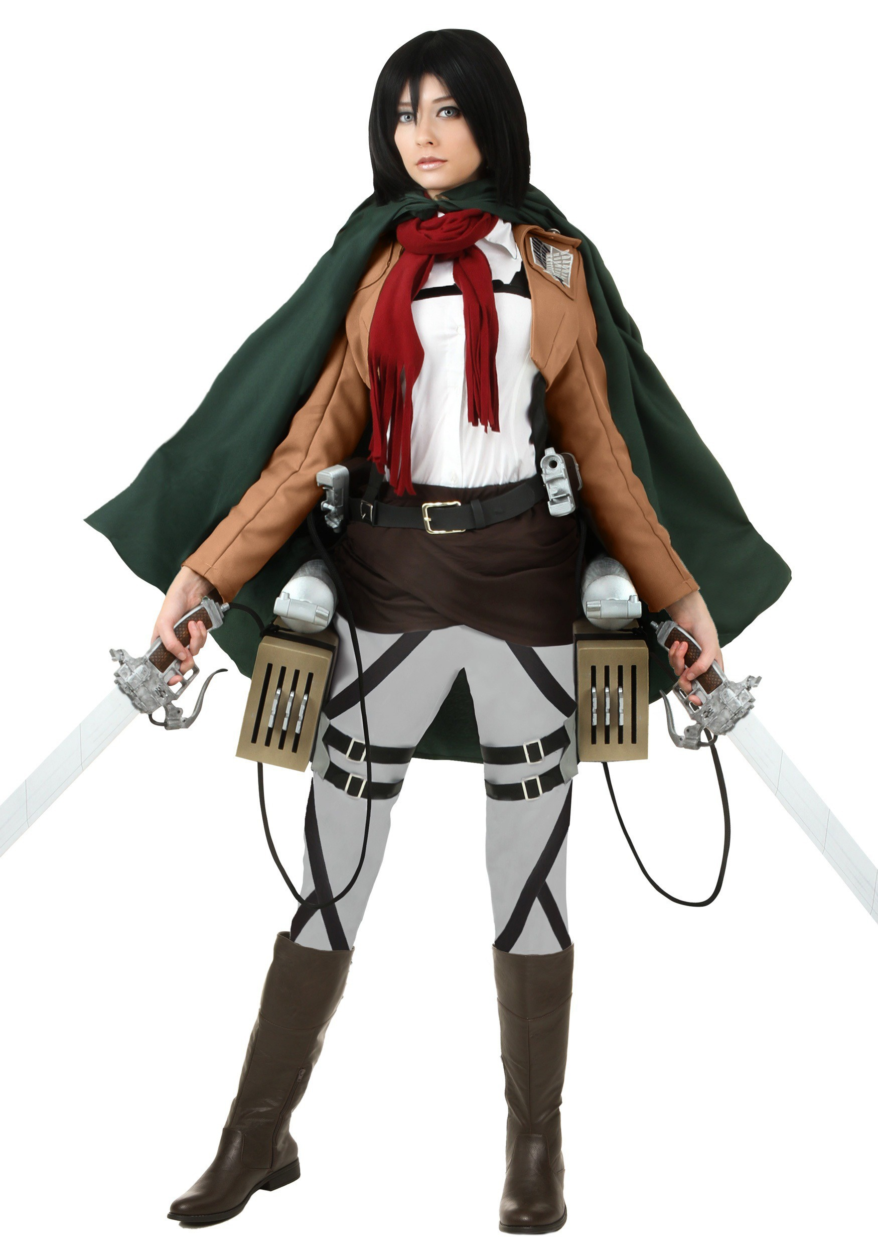 Deluxe Attack on Titan Mikasa Costume FUN2358AD