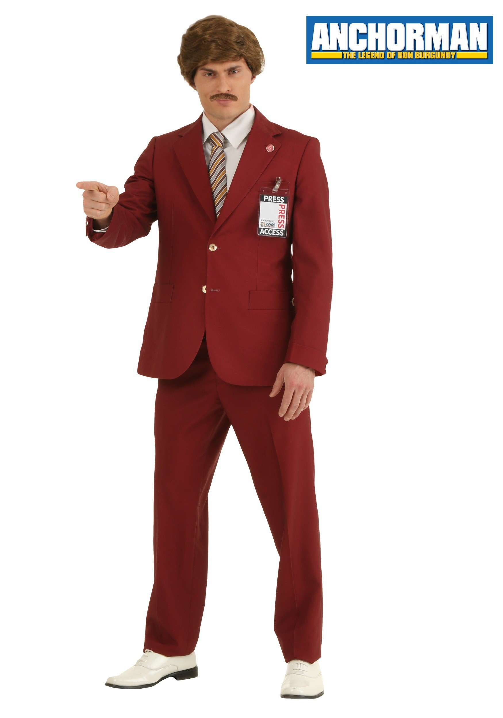 You'll be the top dog on Halloween when you decide to dress in this officially licensed Anchorman Ron Burgundy Adult Costume. Flaunt your unmatched style when you wear this classic jacket with matching pants, tie and official channel 4 pin/5(8).
