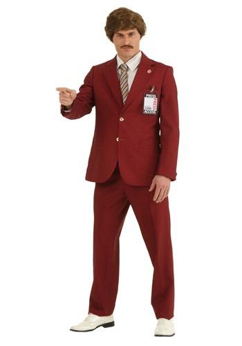 Plus Size Authentic Ron Burgundy Suit Costume