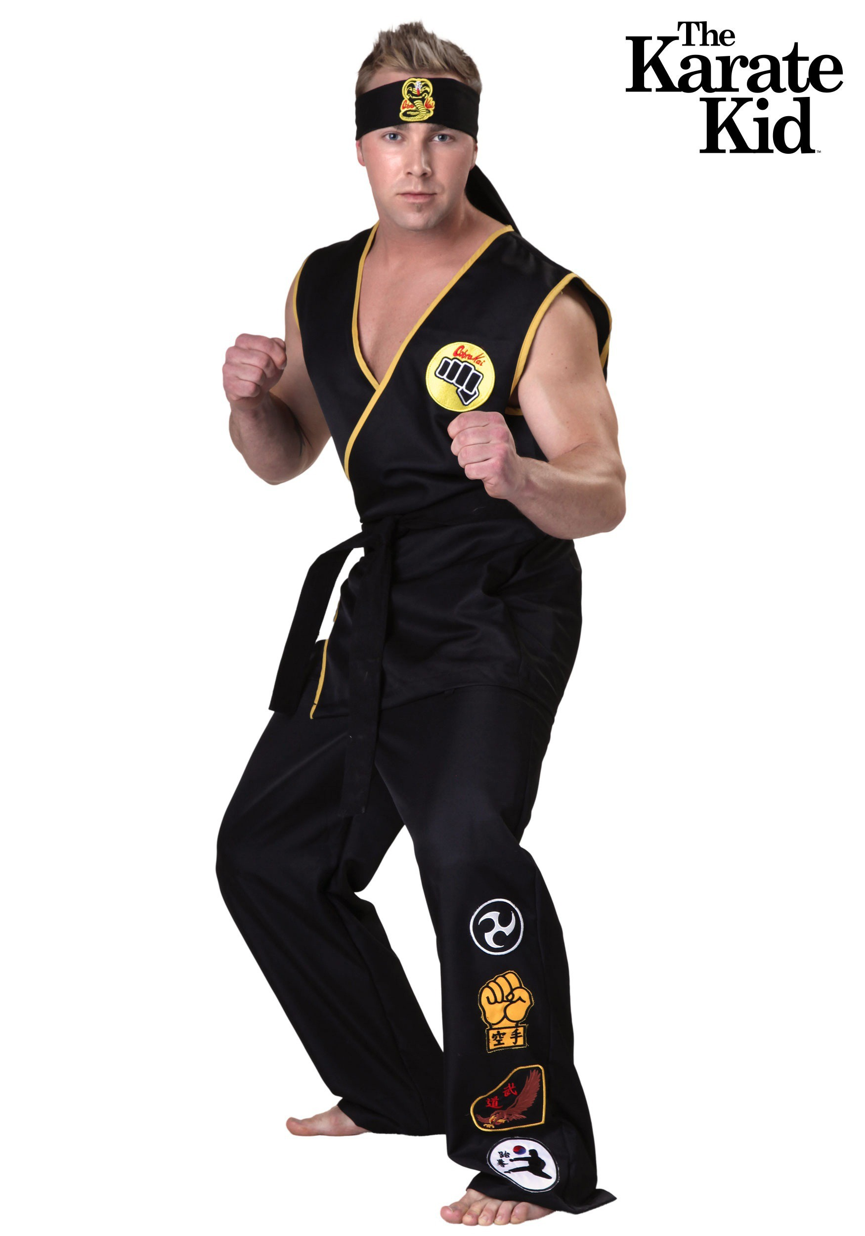 Plus Size Cobra Kai Costume 2X 3X-9501