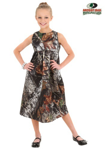 Child Mossy Oak Camo Flower Girl Dress