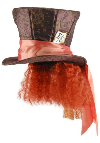 Click Here to buy Mad Hatter Hat w/Hair from HalloweenCostumes, CDN Funds