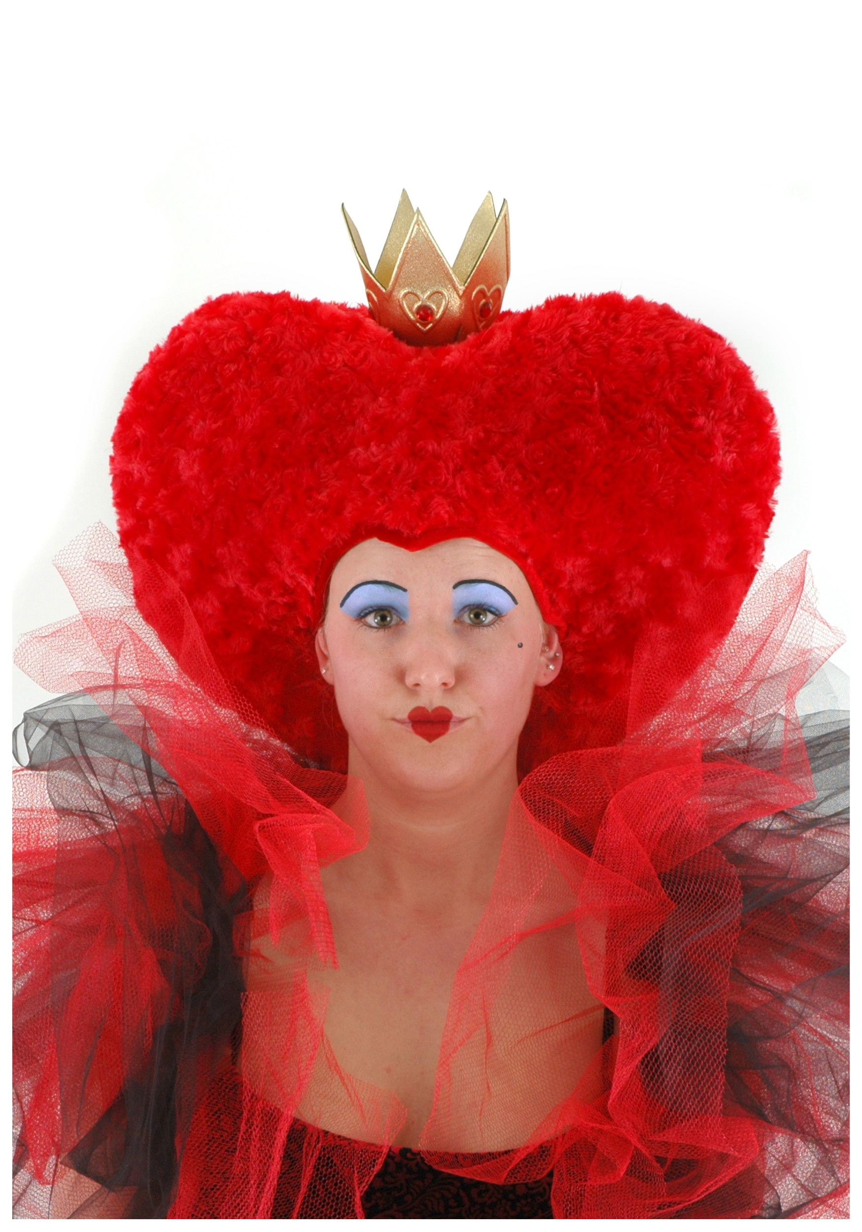 womens queen of hearts red powder wig wonderland. Black Bedroom Furniture Sets. Home Design Ideas