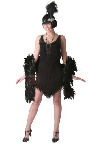 Deluxe Black Flapper Costume