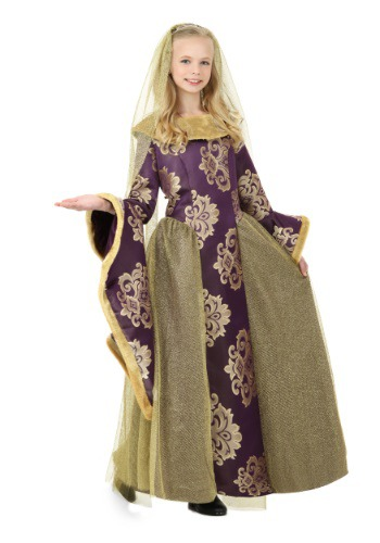 Click Here to buy Kids Renaissance Queen Costume from HalloweenCostumes, USA Funds & Shipping
