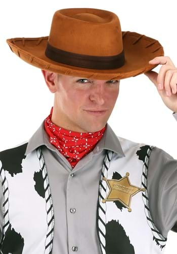 Click Here to buy Adult Deluxe Woody Cowboy Hat from HalloweenCostumes, USA Funds & Shipping
