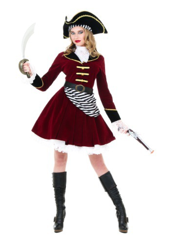Click Here to buy Womens Captain Hook Costume with Hat from HalloweenCostumes, USA Funds & Shipping