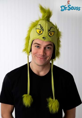 Deluxe Grinch Hoodie Hat - Grinch Accessories, Holiday Costume Ideas