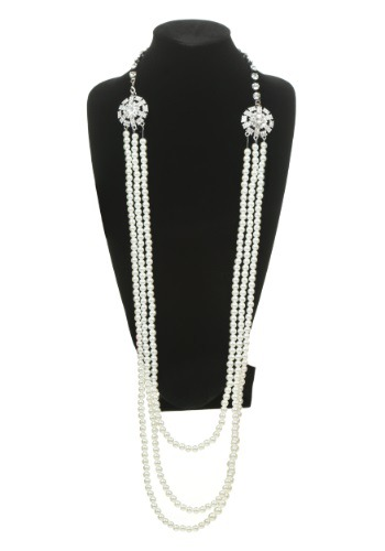 Click Here to buy Pearl and Rhinestone Flapper Necklace from HalloweenCostumes, USA Funds & Shipping