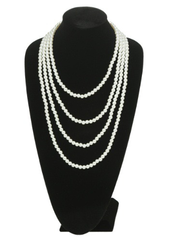 Image of Multi Strand Pearl Flapper Necklace