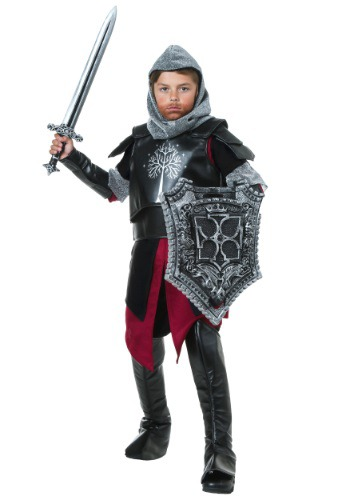 Click Here to buy Kids Medieval Battle Knight Costume from HalloweenCostumes, USA Funds & Shipping