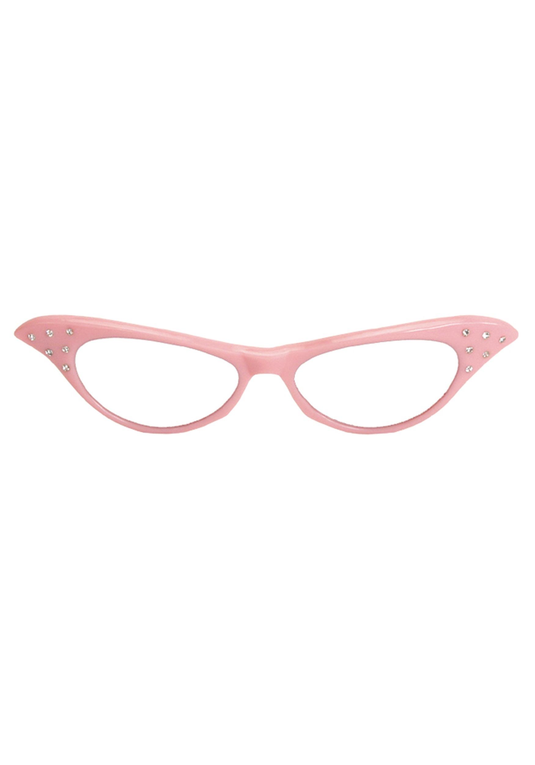 Glasses Frames Pink : 50s Pink Frame Glasses