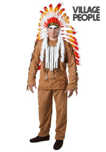 This is an officially licensed Village People Indian Costume.