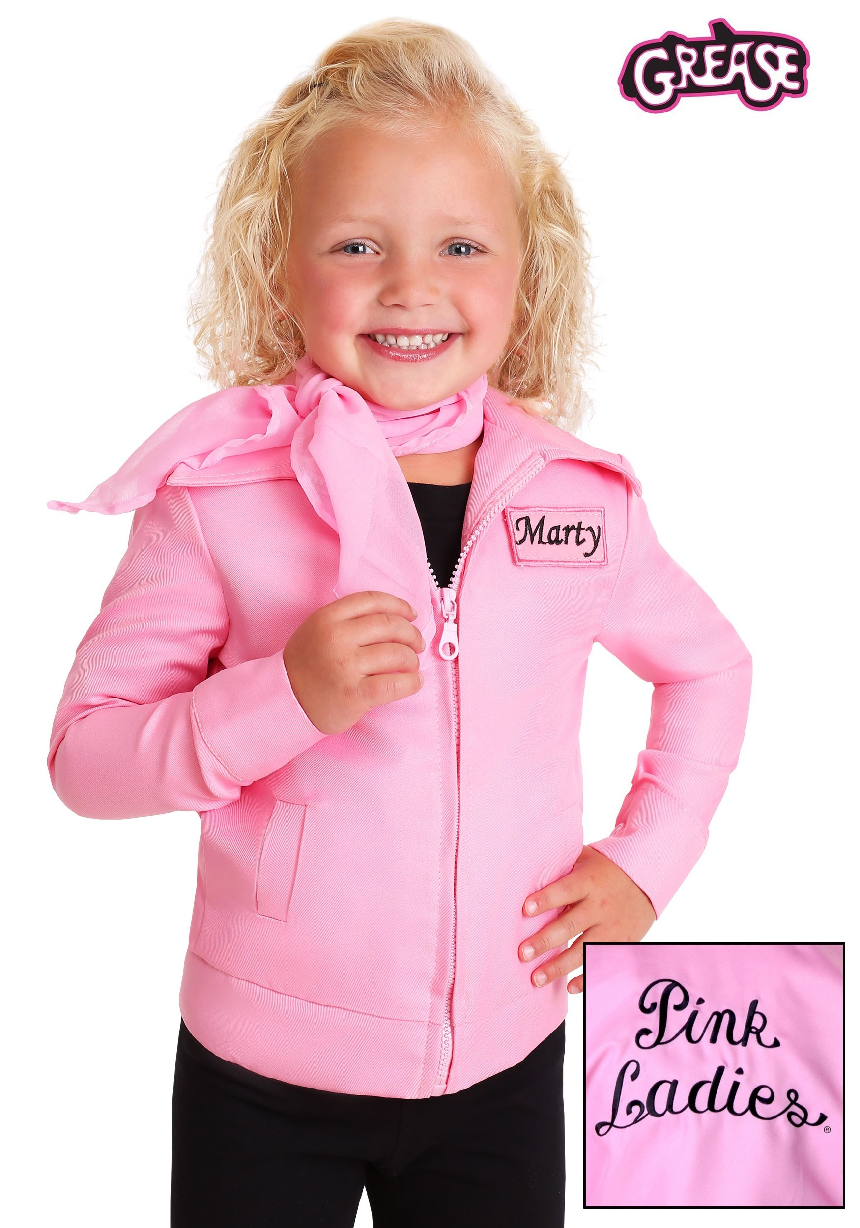 c988a26d72 Toddler Authentic Pink Ladies Jacket Costume