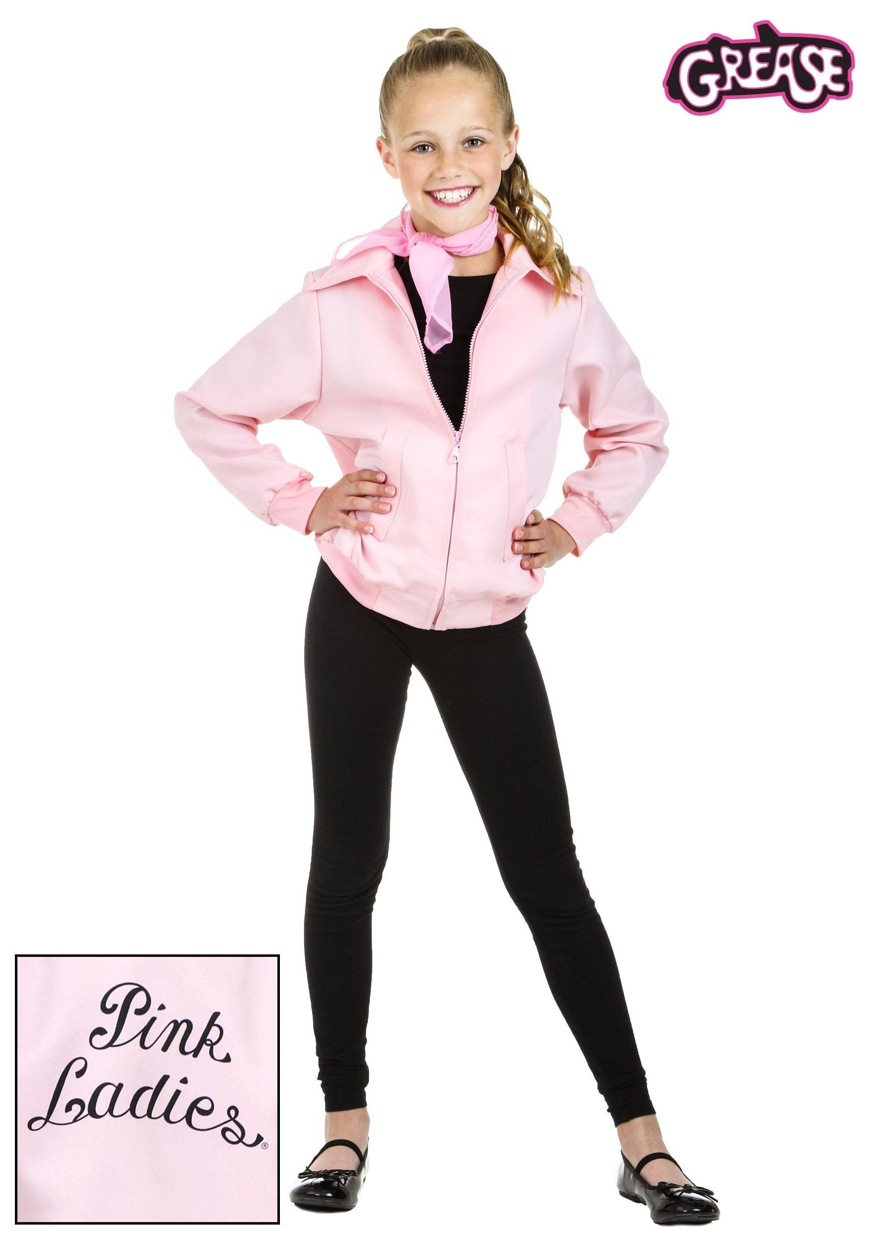 Child Deluxe Pink Ladies Jacket