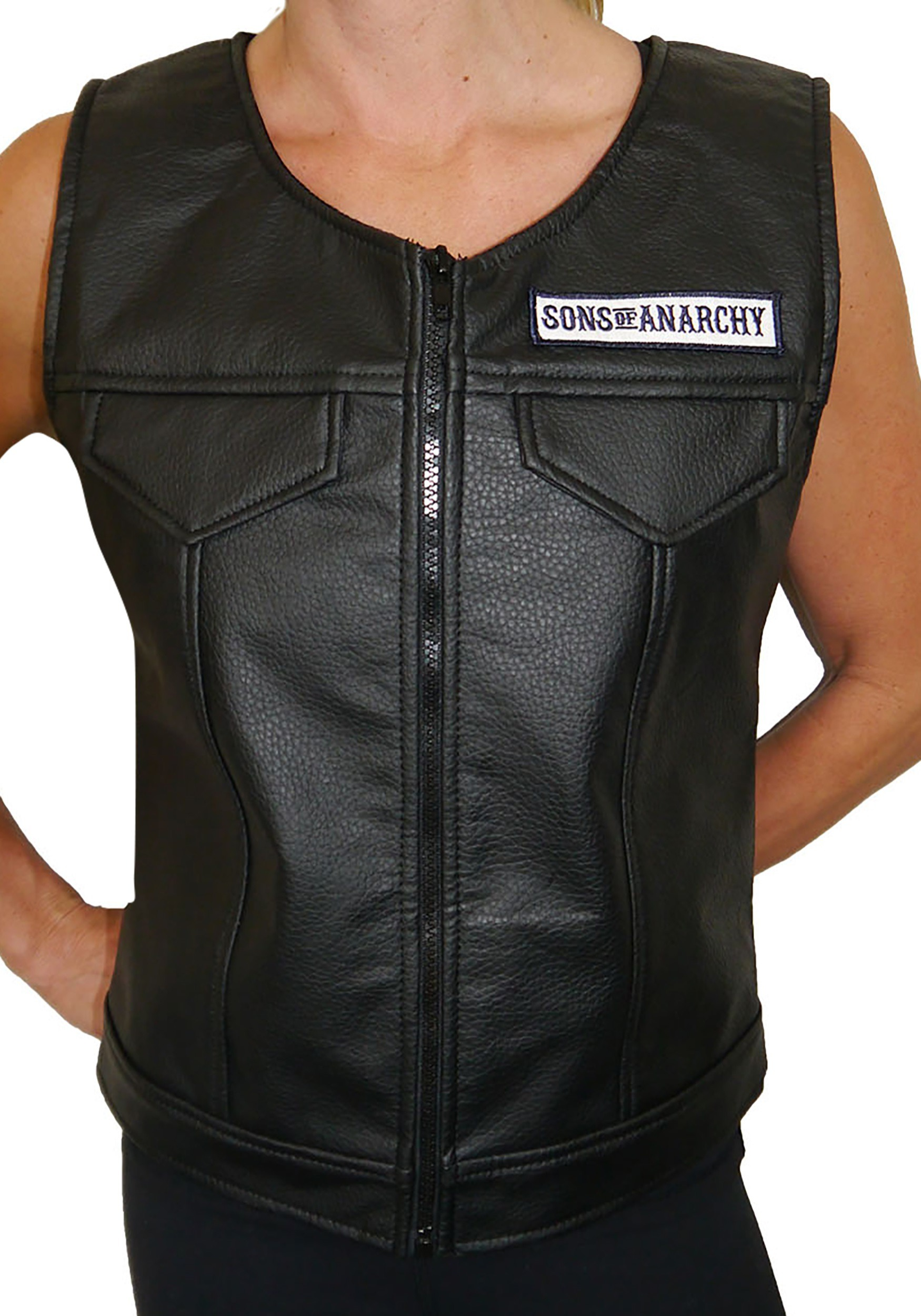Women S Sons Of Anarchy Faux Leather Vest