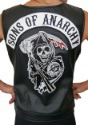 Women's Sons of Anarchy Faux Leather Vest 2