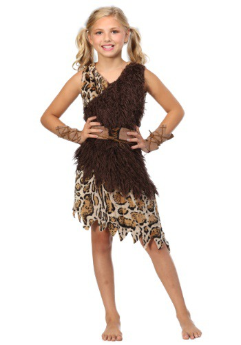 Click Here to buy Kids Cavegirl Costume from HalloweenCostumes, USA Funds & Shipping