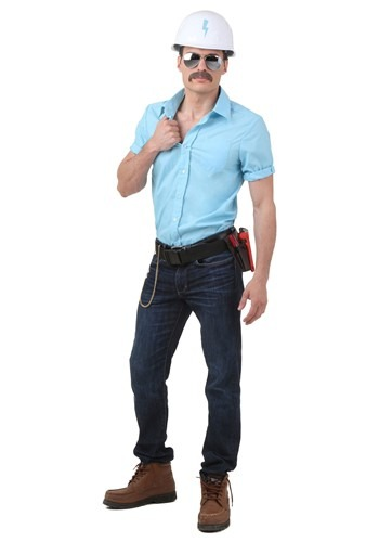 Click Here to buy Plus Size Village People Construction Worker Costume from HalloweenCostumes, USA Funds & Shipping